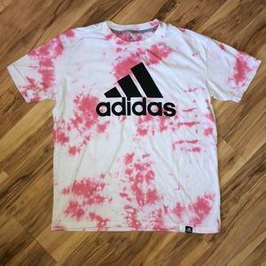 Pink Tie-dye Adidas Go-To T-Shirt